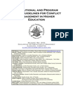 Institutional and Program Level Guidelines for Conflict Management in Higher Education