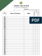 Johrei Belgium -Lista de Presenca - Frances