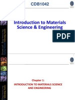 Chapter 1 Introduction to Materials Science and Engineering