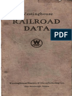 Westinghouse Railroad Data 1924