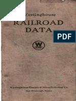 Westinghouse Railroad Data 1924