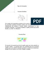 Tipos de Geometria