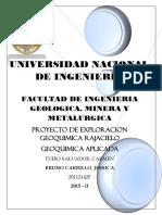 Informe Geoquimica Proyecto Rajacielo