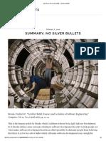 Summary_ No Silver Bullets – Visible Artifacts