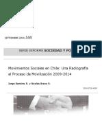 Movimiento Sociales en Chile Una Radiografía Al Proceso de Movilizacion JRamirez y NBravo Septiembre2014