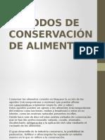 """Metodos de Conservaciã""""n de Alimentos"""