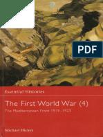 Osprey - Essential Histories 023 - The First World War (4) - Mediterranian Front 1914-23