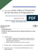 De Las Recetas Al Pragmatismo (Tarija - Oct 2013)- Augusto Latorre