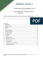 MCQS Statistics Course