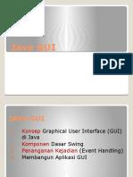 Praktikum Java GUI-1  Dengan Netbeans