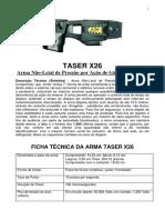 Taser x26 Ficha Tecnica
