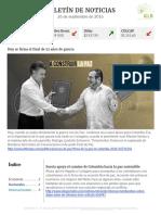 Boletín de noticias KLR 26SEP2016