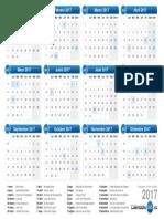 Calendario 2017 & Días Festivos 2017