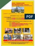 Liceul Roznov Oferta Educationala 2016 2017
