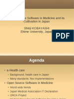 Open Source Software in Medicine and its Cultivation in Japan #MOSC2010