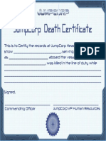 Form - JumpCorp Death Certificate
