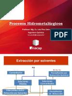 Unidad I - Hidrometalurgía_LP - Extracción Por Solventes
