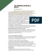 Análisis de Carreras Técnicas y Profesionales