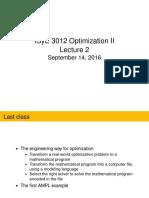 Optimization Lecture 2