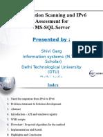 Shivi Garg_SEM1605622_Application Scanning & IPv6 Assessment for MSSQL Server