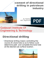 Advancement of Directional Drilling in Petrolium Industry
