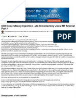 CDI Dependency Injection - An Introductory Java EE Tutorial Part 1 - DZone Java