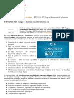 INFO 2016_ XIV Congreso Internacional de Información _ OVTT