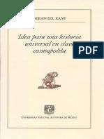 Kant. Idea Para Una Historia Universal. ED. UNAM