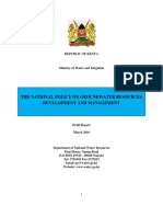 National Policy on Groundwater