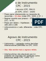 Agravo de Instrumento-CPC 2015