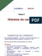 Tema 5 Hidratos de Carbono