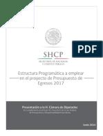 1 Estructuras Programáticas a Emplear Para El Proyecto de PEF 2017