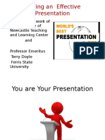 Presentation on Making an Effective Presentation 2016
