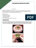 Gelatina Rellena de Mousse de Fresa