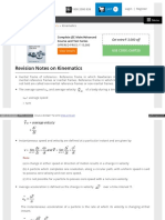 Www Askiitians Com Revision Notes Physics Kinematics