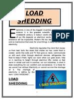 load shedding info