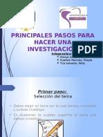 Pasos Para Realizar Una Investigacion Cientifica