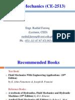 Lecture 1 Fluid Properties