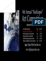 "6th Annual ""SeaScapes"" Online Art Competition - Event Poster"