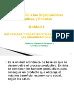 Introducción a Las Organizaciones Publicas y Privadas UNIDAD I