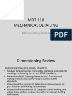 MDT 110-1 Dimensioning Review