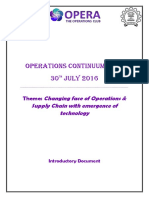 Operations Continuum 2016_Introductory Document