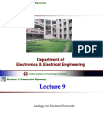 Analogy  to Electrical System By Professor Praveen Kumar