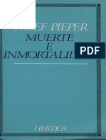 Muerte e Inmortalidad, Josef Pieper