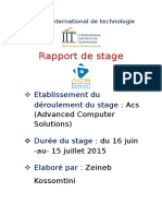 Rapport de stage Microsoft exchange