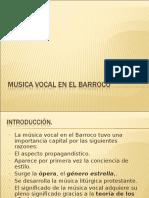 Musica Vocal en El Barroco Power 2 1º