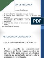 Metodologia de Pesquisa Pos Graduacao