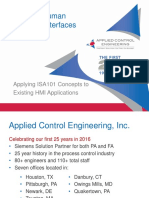 20 SOGIC 2016 Applied Control Applying ISA101 to Existing HMIs Ian Burns