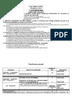 Planificare Civica 2016 2017 Clasa a Vii A