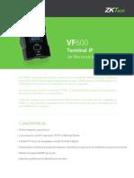 VF600 Terminal IP de Reconocimiento Facial